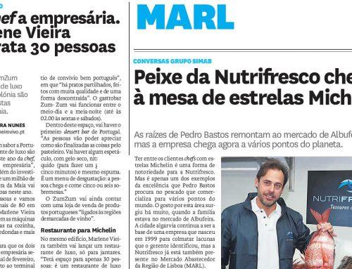 Peixe da Nutrifresco chega à mesa de estrelas Michelin